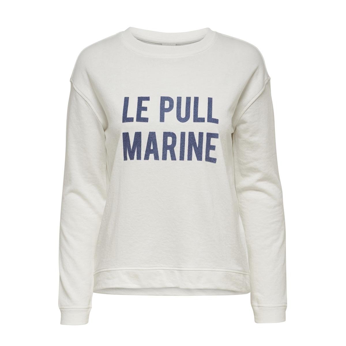 jdybowie l/s print swt 15168761 jacqueline de yong sweater cloud dancer/le pull