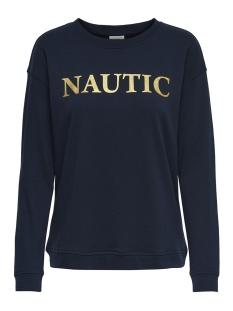 Jacqueline de Yong sweater JDYBOWIE L/S PRINT SWT 15168761 Sky Captain/NAUTIC
