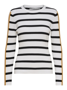 Only Trui onlTHIA L/S PULLOVER KNT 15172361 Bright White/W. BLACK