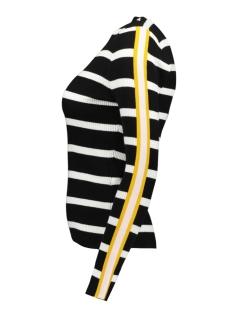 onlthia l/s pullover knt 15172361 only trui black/w. bright white