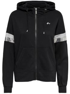 Only Play Sport vest onpISABELLA LOOSE HOOD ZIP SWEAT 15165922 Black/W. LGM