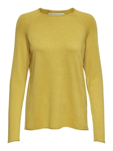 Only Trui onlMILA LACY L/S PULLOVER KNT NOOS 15150242 Yolk Yellow/MELANGE