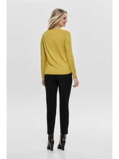 onlmila lacy l/s pullover knt noos 15150242 only trui yolk yellow/melange