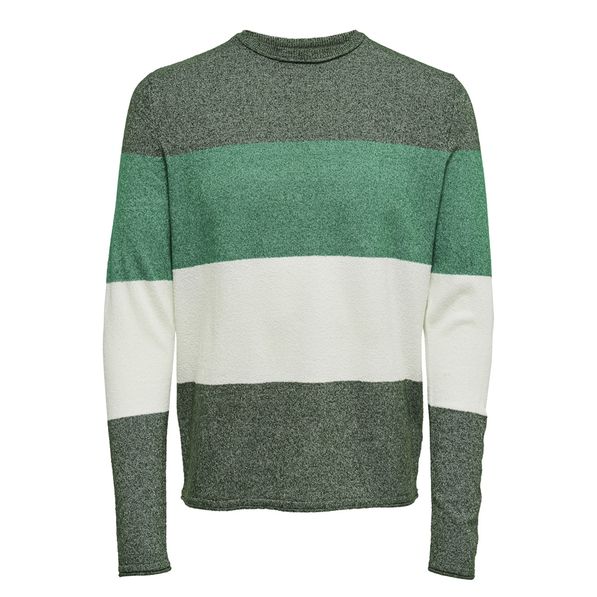 onsted 12  multi  knit 22008711 only & sons trui dark green/striped