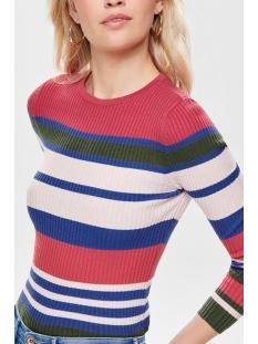 onlsif l/s o-neck pullover knt 15170576 only trui geranium/w. dazzling