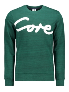 Jack & Jones sweater JCOPAINTED SWEAT CREW NECK 12153964 Evergreen/W. BLACK