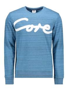 Jack & Jones sweater JCOPAINTED SWEAT CREW NECK 12153964 Azure Blue/W. Black