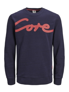 Jack & Jones sweater JCOPAINTED SWEAT CREW NECK 12153964 Maritime Blue/W. BLACK
