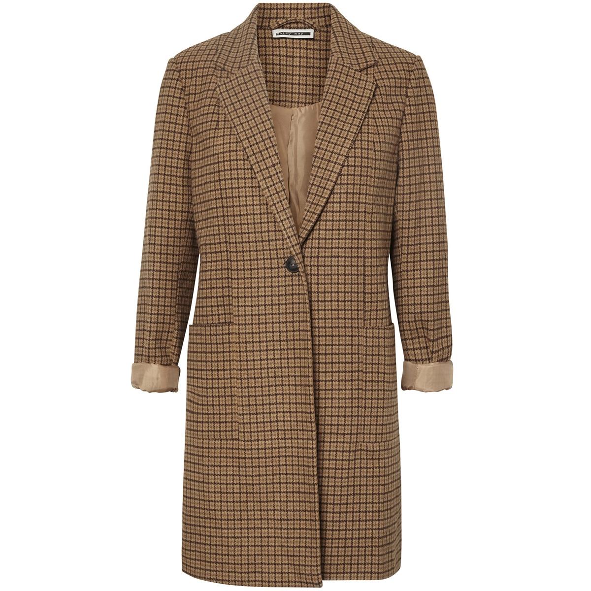 nmjohnny l/s coat rep 27006343 noisy may jas tobacco brown/dark brown