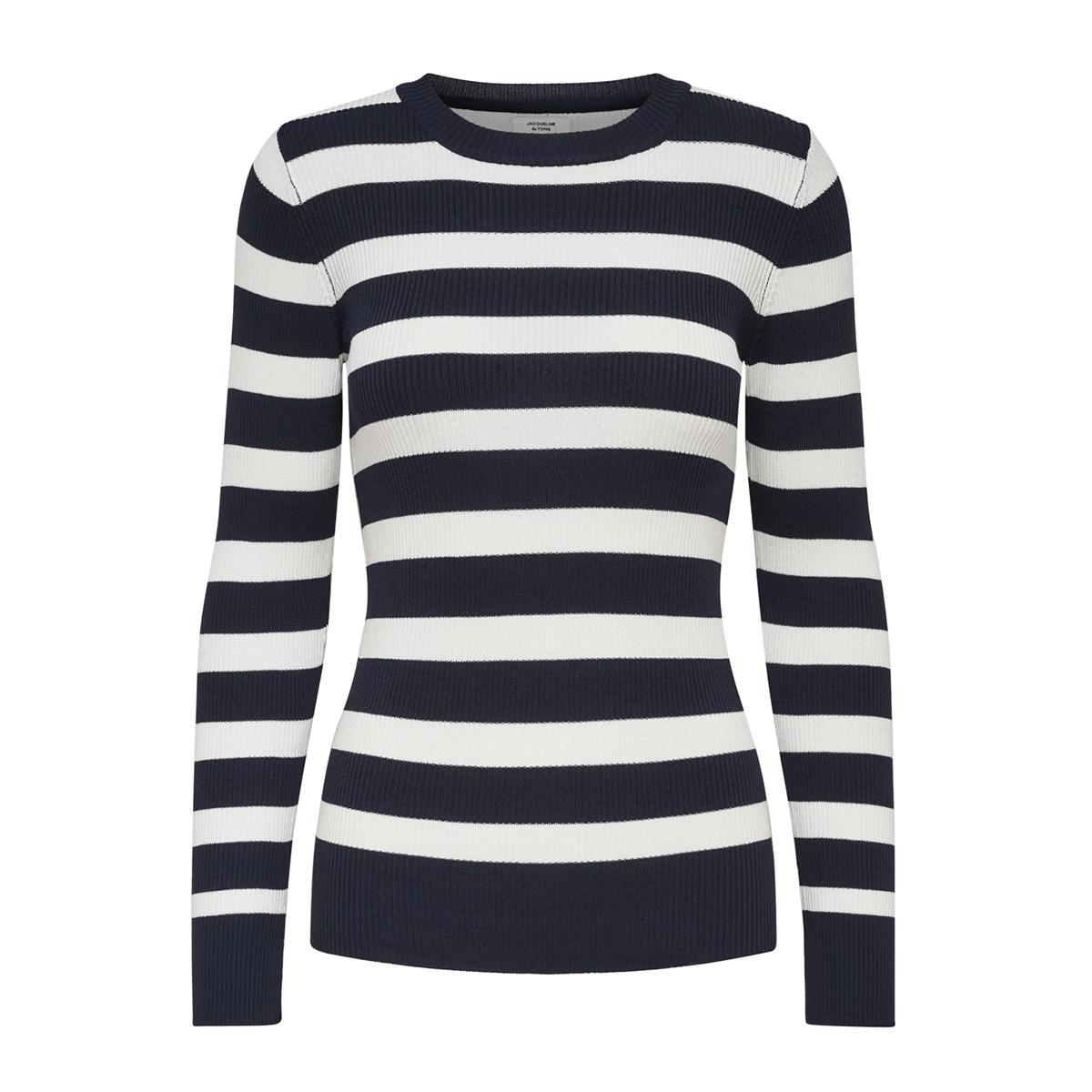 jdyaspen treats l/s stripe knt 15173937 jacqueline de yong trui sky captain/w. cloud d