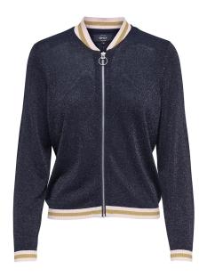 onljosine l/s zip cardigan knt 15174213 only vest night sky/w. blushin