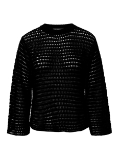 Pieces Trui PCCLIPPA 3/4 O-NECK KNIT 17096545 Black