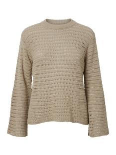 pcclippa 3/4 o-neck knit 17096545 pieces trui white pepper