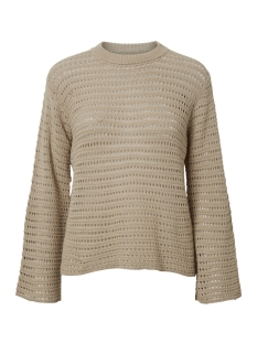 Pieces Trui PCCLIPPA 3/4 O-NECK KNIT 17096545 White Pepper