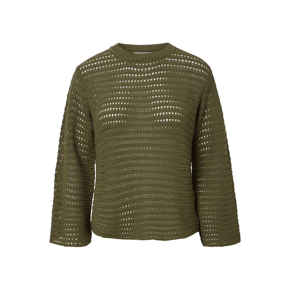 pcclippa 3/4 o-neck knit 17096545 pieces trui beech