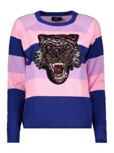 onlfelippa l/s pullover knt 15171551 only trui dazzling blue/w. violet
