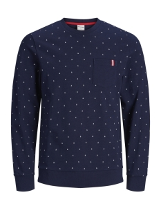 Jack & Jones sweater JCOAND SWEAT CREW NECK 12154291 Maritime Blue