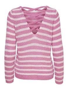 onlnew gabbi string l/s pullover cc 15169579 only trui prism pink/cloud dancer