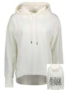 Vero Moda sweater VMWOMAN CIDA LS  HOOD SWEAT VMA 10212980 Pristine/BLACK WOMAN