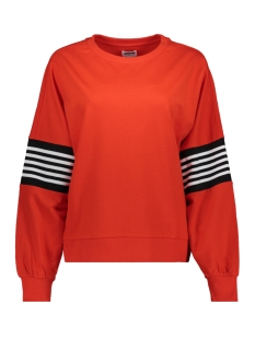 Noisy may sweater NMPOPPA L/S SWEAT 3 27006798 Fiery Red/RIB SUGAR