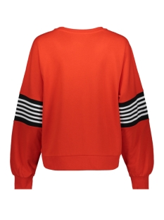 nmpoppa l/s sweat 3 27006798 noisy may sweater fiery red/rib sugar