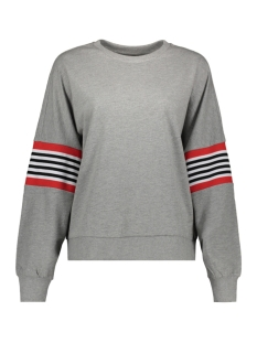 nmpoppa l/s sweat 3 27006798 noisy may sweater light grey mela/rib suger