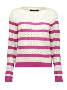 vmscore stripe ls blouse 10210007 vero moda trui snow white/w.festiva