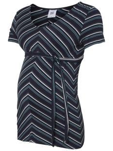 Mama-Licious Positie shirt MLMARIA S/S JERSEY TOP A. O. 20009739 Navy Blazer/Y/D SNOW W