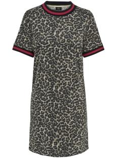 Only Jurk ONLPETRA S/S DRESS BOX SWT 15176741 Peyote/LEO