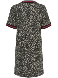 onlpetra s/s dress box swt 15176741 only jurk peyote/leo