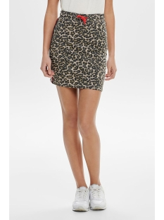 onlpetra short skirt aop swt 15176745 only rok peyote/leo