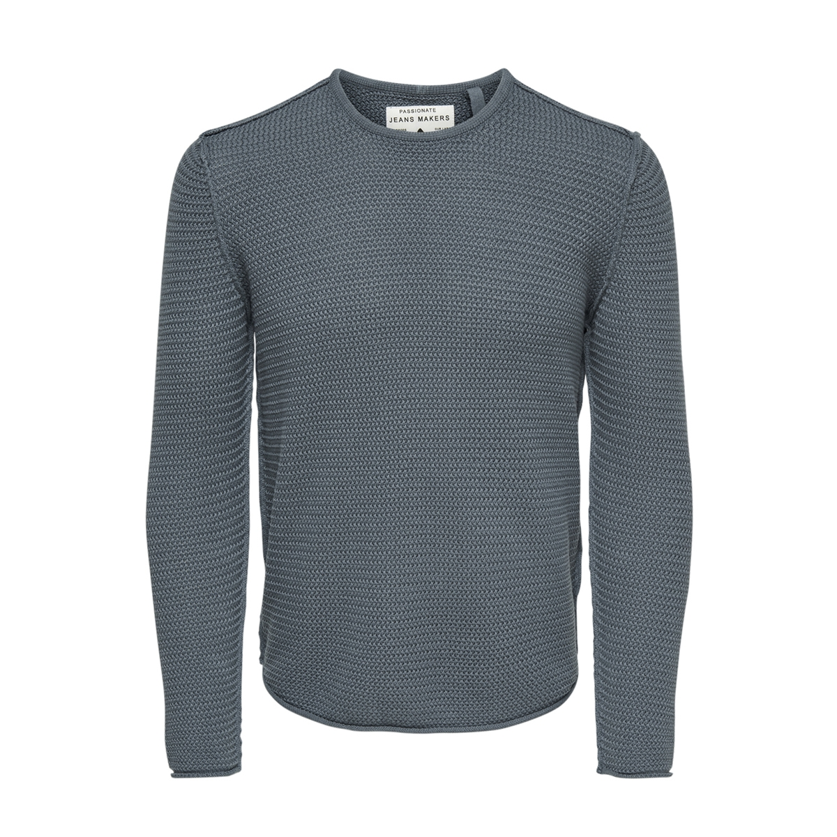 onstrough knit sl 3108 22013108 only & sons trui smoke blue