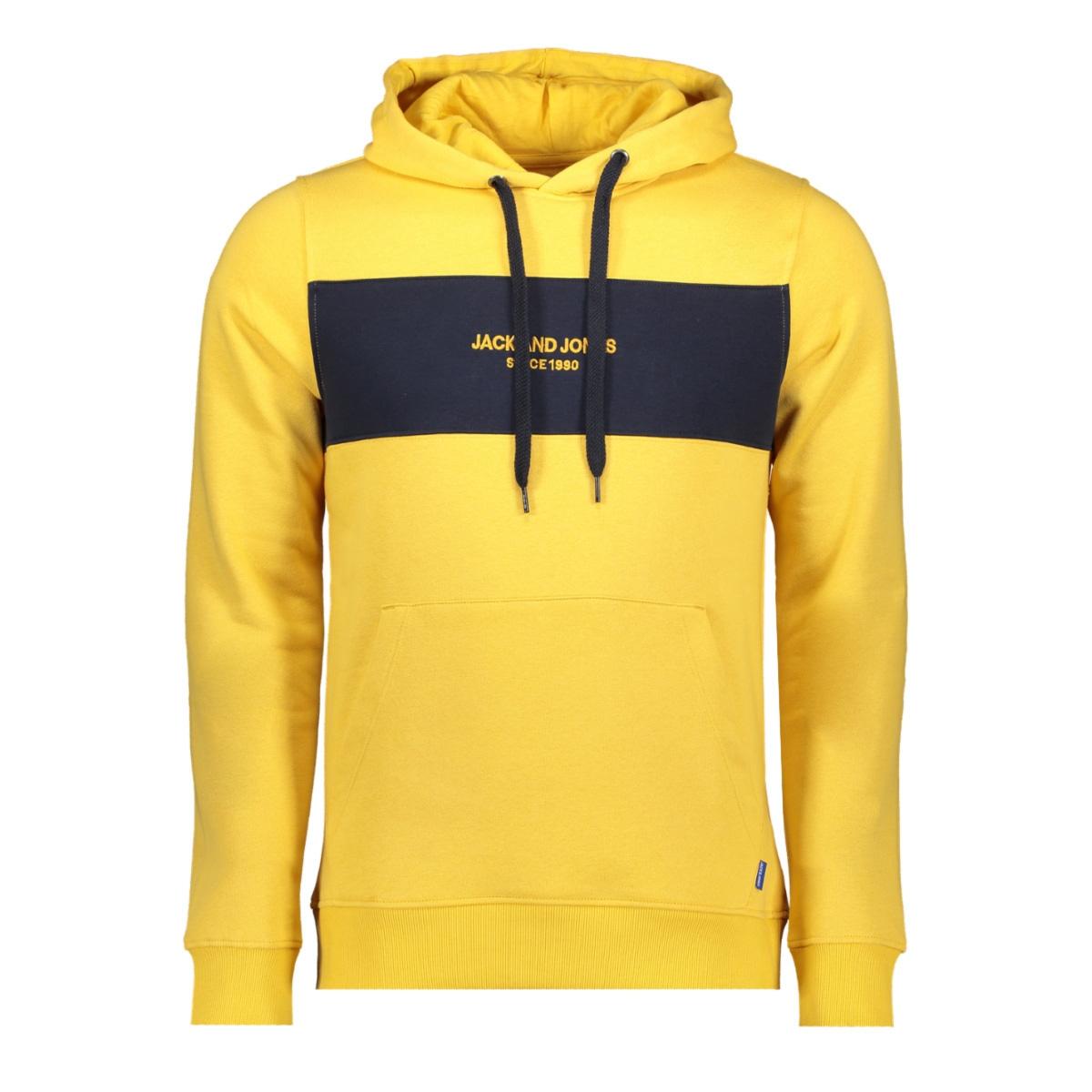 jorstave sweat hood 12163141 jack & jones sweater yolk yellow