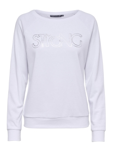 Only Play Sport trui ONPMATHILDA BOATNECK SWEAT 15166255 White/W. SILVER