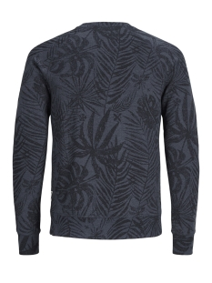pktgms open aop crew neck sweat 12149702 produkt sweater navy blazer/melange