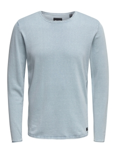 onsgarson 12  wash crew neck knit noos 22006806 only & sons sweater cashmere blue