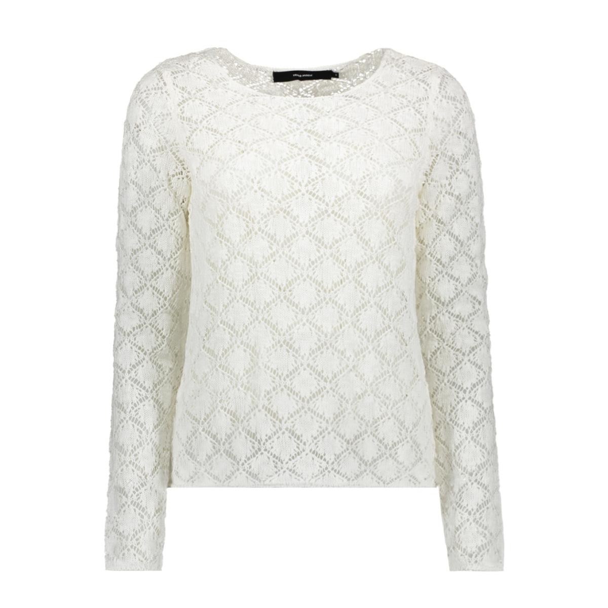 vmdora ls o-neck blouse 10210551 vero moda trui snow white