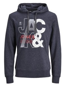 Jack & Jones Trui JCOTILLY SWEAT HOOD 12148661 Maritime Blue