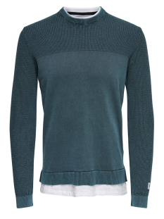 Only & Sons Trui onsPAGE 12 WASHED MIX KNIT 22012496 Majolica Blue