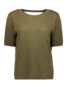 Vila T-shirt VIKASTANA KNIT S/S TOP 14052735 Dark Olive/MELANGE