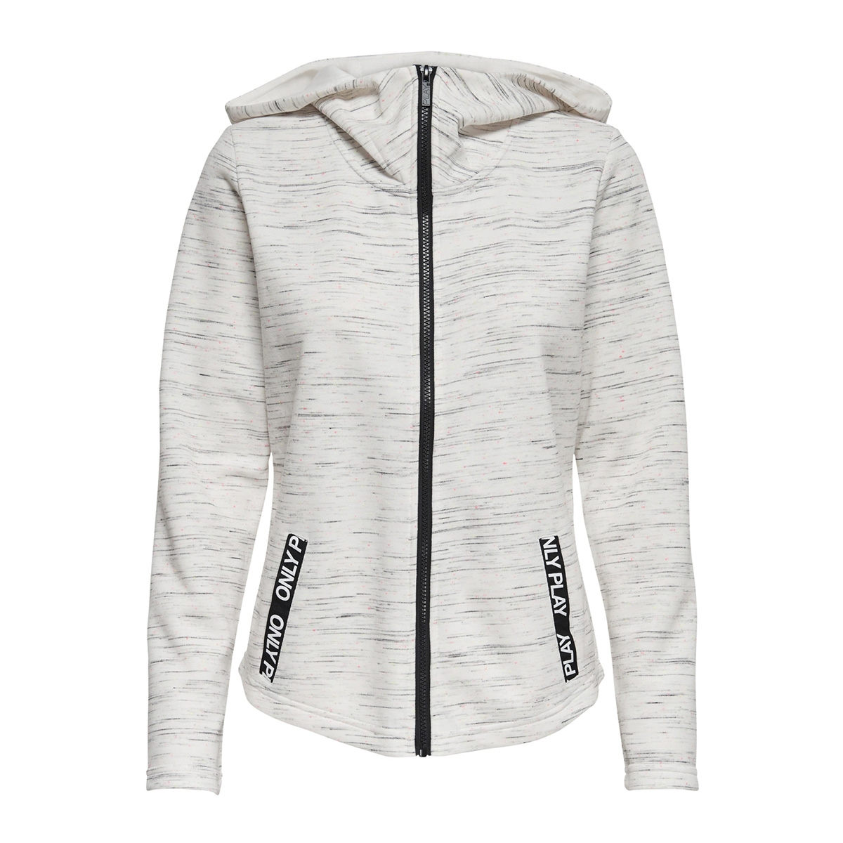 onpcoral hood sweat 15170212 only play sport vest white melange