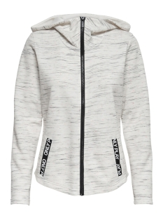 Only Play Sport vest ONPCORAL HOOD SWEAT 15170212 White Melange