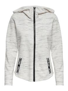 Only Play Sport vest ONPCORAL HOOD SWEAT 15170212 White Melange