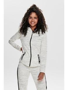 onpcoral hood sweat 15170212 only play sport vest white melange