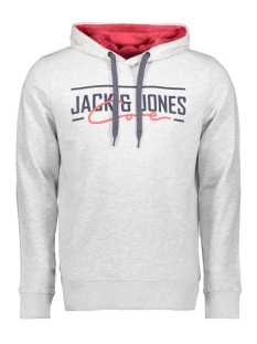 Jack & Jones sweater JCOAXEL SWEAT HOOD 12152101 White Melange