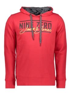 jcoaxel sweat hood 12152101 jack & jones sweater chinese red
