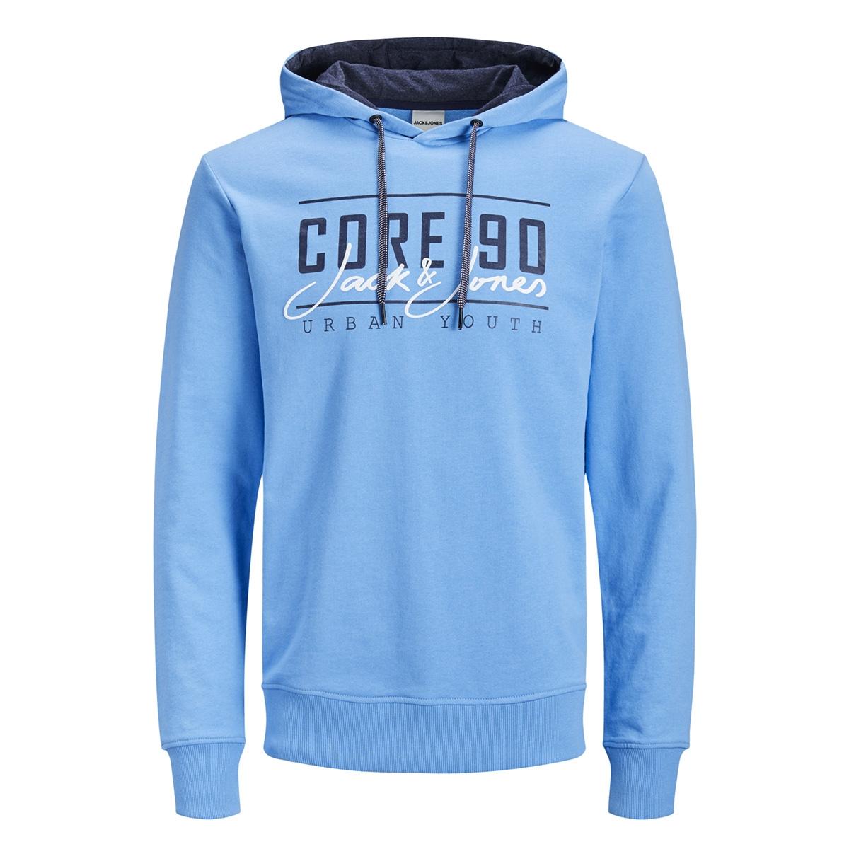 jcoaxel sweat hood 12152101 jack & jones sweater azure blue