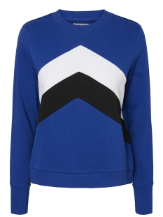Pieces sweater PCSELIN LS SWEAT PB 17095564 Surf The Web/BLACK/BRIG