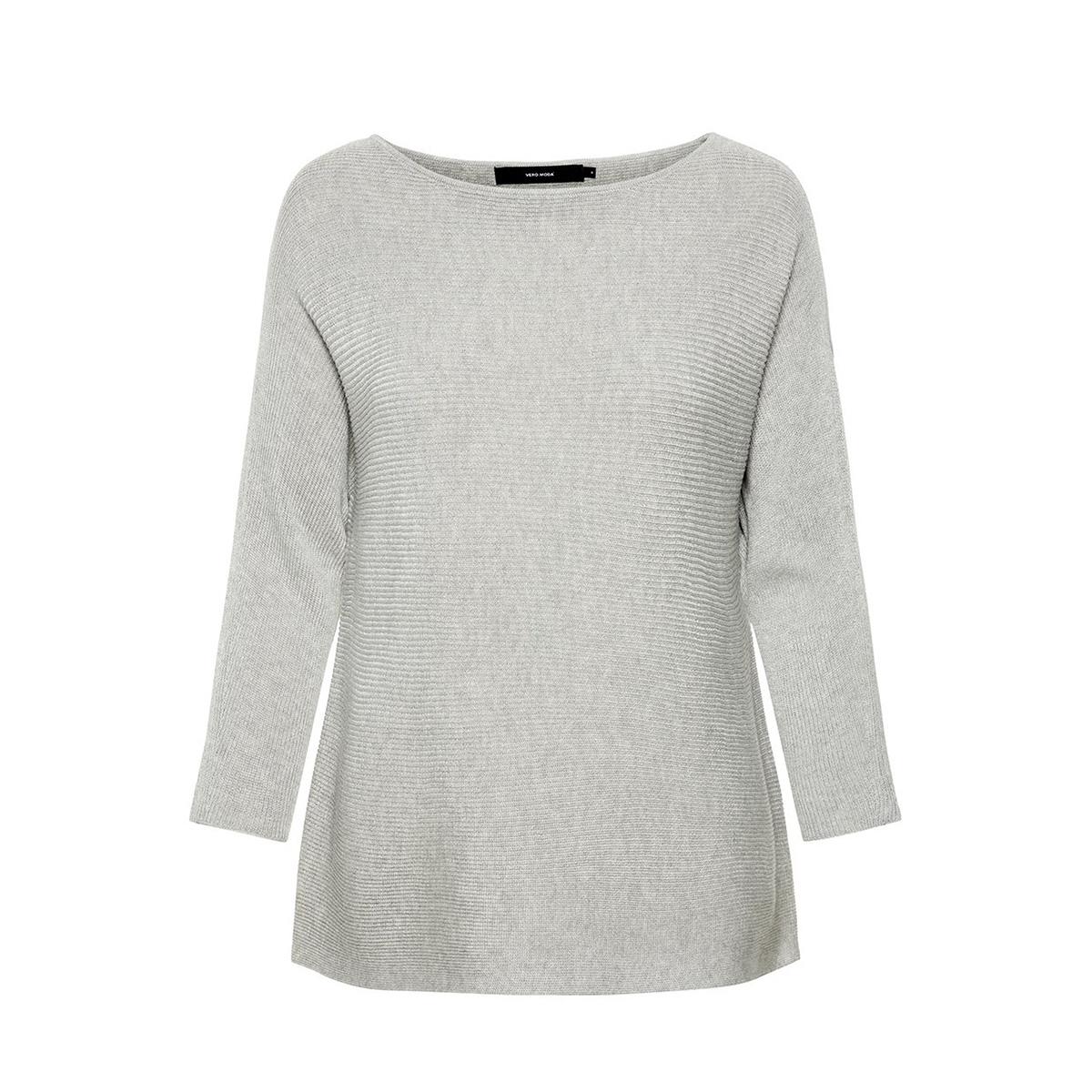 vmnora 3/4 boatneck blouse noos 10210570 vero moda trui light grey melange