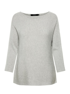 Vero Moda Trui VMNORA 3/4 BOATNECK BLOUSE NOOS 10210570 Light Grey Melange